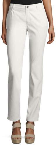 Lafayette 148 New York Thompson Waxed Denim Slim-Leg Jeans, Plus Size