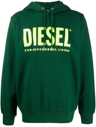 Diesel Logo-Print Hooded Sweatshirt