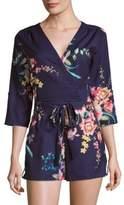 Yumi Kim Liz Floral-Print Short Jumpsuit