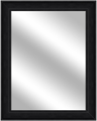 PTM Images Over the sink Vanity Mirror, Wood Grain Black, 26.75x32.75