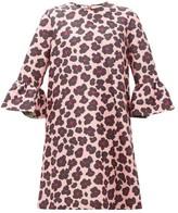 La DoubleJ Leopard-print Ruffled Faille Dress - Womens - Black Pink