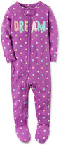 Carter's 1-Pc. Dream Heart-Print Footed Pajamas, Toddler Girls (2T-5T)