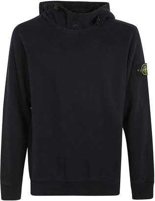 Stone Island Sleeve Classic Logo Patched Hoodie