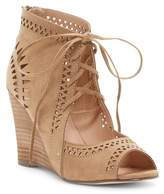 Restricted Slow Motion Lace-Up Wedge Sandal