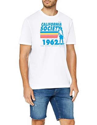 Tom Tailor Casual Men's T-Shirt, White 20000, Medium