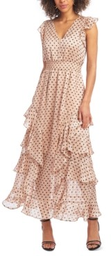 Rachel Roy Ruffled V-Neck Maxi Dress