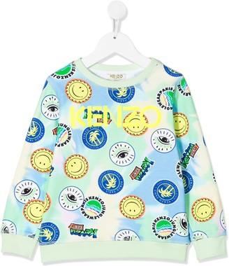 Kenzo Kids All Over Print Logo Sweatshirt