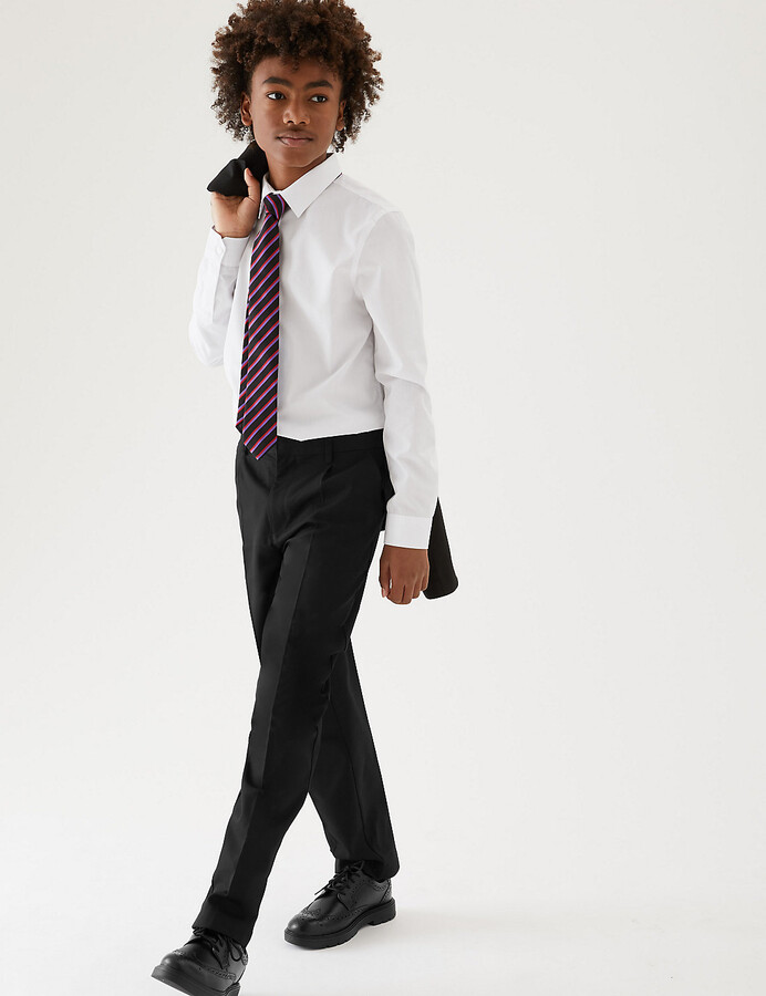 Marks and Spencer Boys' Regular Leg Plus Fit Trousers