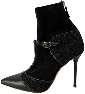 Malone Souliers Black Suede Ankle boots