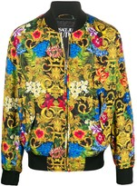 Versace Floral Print Bomber Jacket