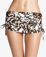 Calvin Klein Ruched Swim Skirt Bottoms Women's Swimsuit
