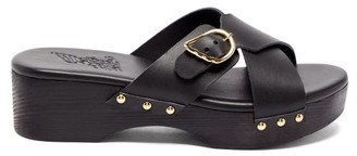 Ancient Greek Sandals Marilisa Crossover-strap Leather Clogs - Black