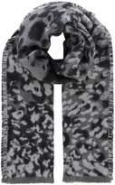 Linea Leopard jacquard scarf