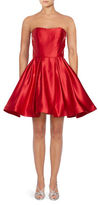 Betsy & Adam Satin Fit-and-Flare Dress