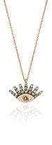 Protect Me Small Evil Eye Champagne Diamond Necklace
