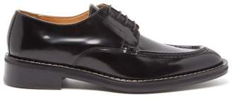 Ami Point Toe Leather Derby Shoes - Mens - Black
