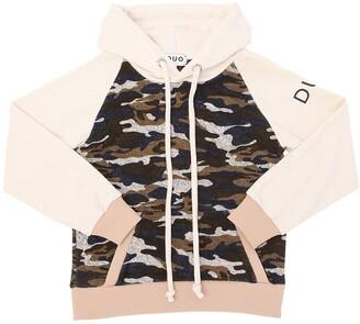 Duo Camo Cotton Jersey Sweatshirt Hoodie