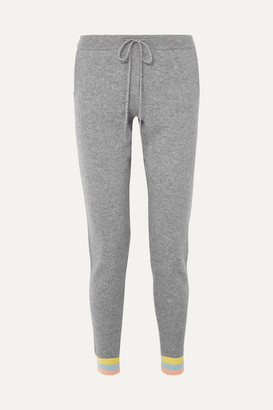 Chinti and Parker Cashmere Track Pants - Gray