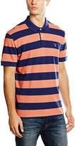 Gant Men's Barstripe Pique Short Sleeve Rugger Polo Shirt
