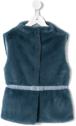 Il Gufo Sleeveless Faux-Fur Jacket