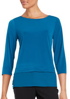 Ivanka Trump Knit Mock-Layer Blouse