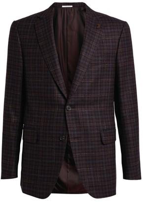 Pal Zileri Wool-Cashmere Check Tailored Jacket