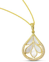 Frederic Sage 18K Gold Folia Mother-of-Pearl Pendant Necklace