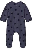 Absorba Navy Jersey Babygrow with Velour Stars