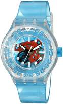 Swatch Women's SUUK103 O-Tini Blue Plastic Watch