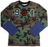 Diesel Camo Printed Jersey T-Shirt With Patches