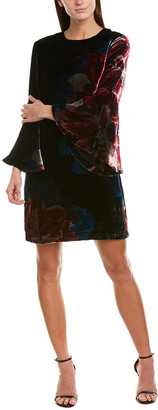 Trina Turk Astral Silk-Blend Shift Dress