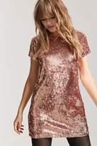Forever 21 Metallic Sequin Shift Dress