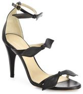 Chloé Mike Leather Knotted Bow Sandals