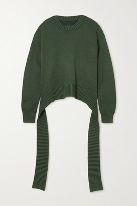 MM6 MAISON MARGIELA Tie-detailed Knitted Sweater