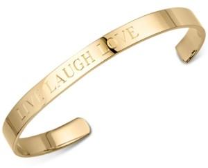 "Sarah Chloe Live Laugh Love"" Bangle Bracelet in Sterling Silver or 14K Gold-Plated Sterling Silver"