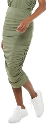 JLO by Jennifer Lopez Women's Side Ruched Pencil Skirt