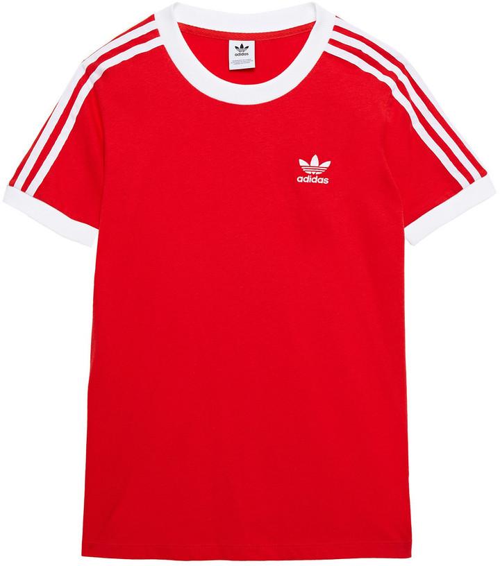 adidas Striped Cotton-jersey T-shirt