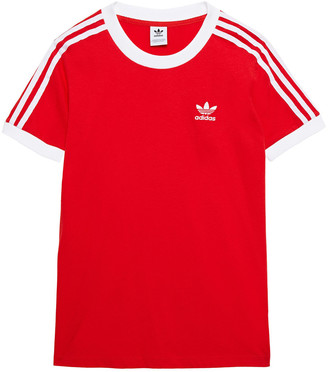 adidas Striped Cotton-jersey T-shirt