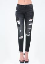 Bebe Lace Heartbreaker Jeans