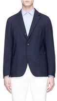 Lardini Reversible wool blend jersey soft blazer