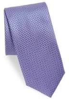 Canali Mini Geometric Pattern Silk Tie