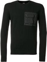 Les Hommes knit pocket detail top