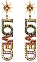 Gucci Loved crystal-embellished earrings