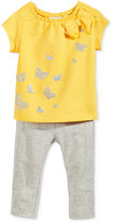 First Impressions Baby Girls' 2-Pc. Metallic Butterfly Top & Leggings Set, Only at Macy's