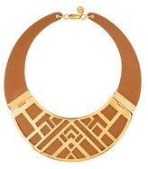 Tory Burch Leather Collar Necklace