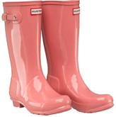 Hunter Kids Gloss Wellington Boots Pink Panther