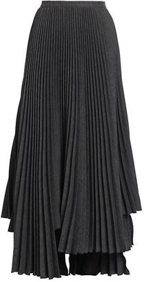 Plan C Handkerchief Pleated Maxi Skirt