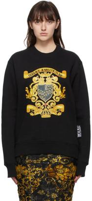 Versace Jeans Couture Black Crest Logo Sweatshirt