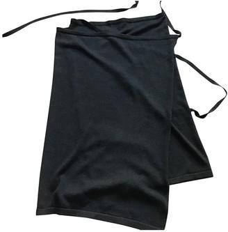 Maison Margiela Anthracite Wool Skirt for Women
