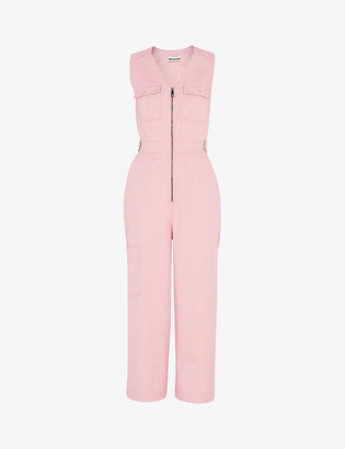 Whistles Nettie cotton utility jumpsuit